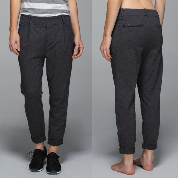 LULULEMON Charcoal French Terry Stress Less Pants